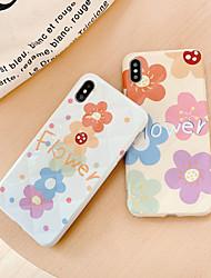 Недорогие -Кейс для Назначение Apple iPhone XS / iPhone XR / iPhone XS Max Защита от пыли / IMD / Резервная копия Кейс на заднюю панель Слова / выражения / Цветы силикагель