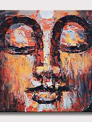 cheap -Oil Painting Hand Painted - Abstract Abstract Portrait Vintage Modern Rolled Canvas