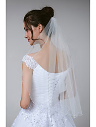 cheap -One-tier Stylish / Classic Wedding Veil Elbow Veils with Beading Tulle
