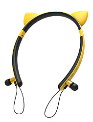 Недорогие -litbest милые уши наушники с подсветкой kzw-29 беспроводная повязка на голову наушник стерео