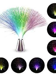 Недорогие -hkv® привело волоконно-оптические лампы свет лампы изменения малых ночь свет свадьба рождественские партии дома украшения