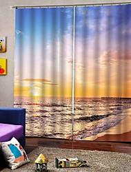 abordables -chinois simple paysage rideaux en tissu isolation thermique écran solaire épaissie rideaux complet pour salon étanche rideaux de douche étanche à l'humidité