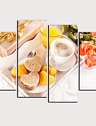 cheap -Print Rolled Canvas Prints - Holiday Food Classic Modern Four Panels Art Prints