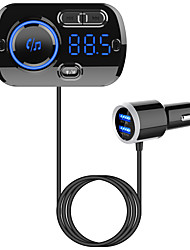 cheap -BC49BQ Bluetooth FM Transmitter for Car Wireless Bluetooth 5.0 Radio Adapter 3A/QC3.0 Fast Car Charger with 2 USB Ports Hand-Free Calling MP3 Music Player TF Card LED Backlit