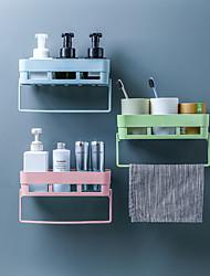 cheap -Punch-free Bathroom Shelf Toilet Wall-mounted Towel Shelf Storage Rack