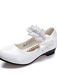 cheap -Girls' Tiny Heels for Teens PU Heels Big Kids(7years +) White / Black Spring / Party & Evening