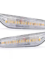 cheap -LED Side Marker Lights Turn Signal Lamp Amber Pair For BMW E82 E88 E60 E61 E90 E91 E92 E46