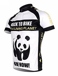 cheap -21Grams Animal Panda Men's Short Sleeve Cycling Jersey - Black / White Bike Jersey Top Breathable Moisture Wicking Quick Dry Sports Polyester Elastane Terylene Mountain Bike MTB Road Bike Cycling