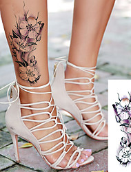 cheap -5 pcs sexy romantic dark rose flowers Tattoo sleeve flash henna tattoos fake Waterproof temporary tattoos stickers translated tattoos