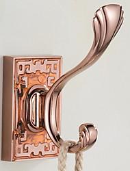 cheap -Robe Hook Creative / Multifunction Modern Brass 3pcs Wall Mounted