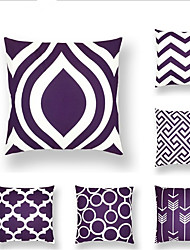 cheap -6 pcs Linen Pillow Cover, Striped Geometic Classic Fashion Throw Pillow
