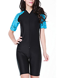 cheap -SBART Women's Rash Guard Dive Skin Suit Spandex Diving Suit SPF50 UV Sun Protection Breathable Short Sleeve Front Zip Boyleg - Diving Fashion Spring Summer / Quick Dry / Anatomic Design / Stretchy
