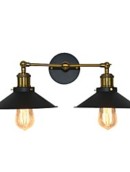 cheap -Simple Swing Arm Wall Lamp Retro Wall Light Fixtures Vanity Mirror Light Wall Lighting Metal Cone Shade Wall Lamps 2 Lights