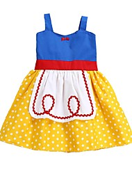 cheap -Princess Dress Cosplay Costume Flower Girl Dress Girls' Movie Cosplay A-Line Slip Cosplay Halloween Yellow Dress Halloween Carnival Children's Day Cotton / Sleeveless