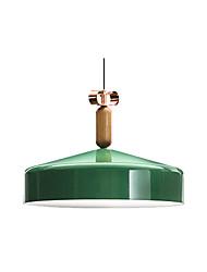 cheap -1-Light Simplicity Modern Pendant Light Pendant Lighting for Kitchen Island Iron Pendant Lamp Shade Green