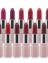 abordables -12 pcs 12 couleurs Maquillage Quotidien Imperméable / Lèvres / Facile à Utiliser Humide / Mat Humidité / Longue Durée / étanche Doux / Mode Maquillage Cosmétique Accessoires de Toilettage