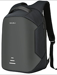 cheap -Large Capacity Oxford Cloth Zipper Commuter Backpack Solid Color Daily Black / Light Grey / Wine / Men's