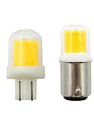 cheap -5pcs 5 W LED Spotlight 300 lm T10 BA15D 1 LED Beads COB New Design Warm White White 12 V