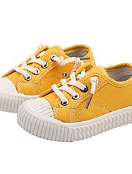 cheap -Girls' Comfort Canvas Sneakers Toddler(9m-4ys) Black / White / Yellow Spring