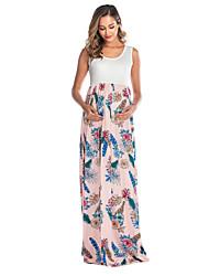 cheap -Women's Midi Maternity Blushing Pink Blue Dress Shift S M