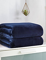 cheap -Bed Blankets / Sofa Throw, Simple / Solid Color / Classic 100% Micro Fiber Warmer Comfy Super Soft Blankets