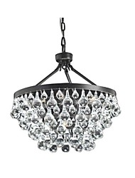cheap -6-Light Crystal Chandeliers Round Modern Raindrop Pendant Lamp Chain Adjustable Hallway Living Room Hanging Lighting Crystals Chandelier Ambient Light Suspension Lights