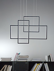 cheap -LED Square Geometric Chandelier Light Island Pendant Lamp Ceiling Fixture Warm White White Dimmable with Remoter Control for Dinning Living Room office