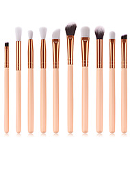 cheap -Makeup Brushes Set 12pcs Wood Handle Soft Nylon Bristles Makeup Brush Cosmetic Brushes Eyeshadow Eyeliner Blush Blending Brushes