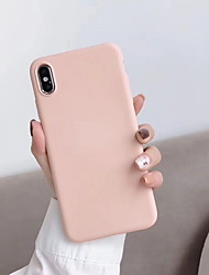 cheap -Phone Case For Apple Back Cover iPhone 12 Pro Max 11 SE 2020 X XR XS Max 8 7 6 Shockproof Solid Color Soft Silicone Silica Gel