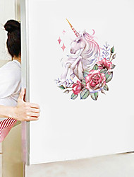 cheap -Cute Cartoon Wall Stickers - Animal Wall Stickers Animals / Landscape Study Room / Office / Dining Room / Kitchen-J