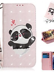 cheap -Case For Nokia Nokia 9 PureView Wallet / Card Holder / Shockproof Full Body Cases Panda PU Leather