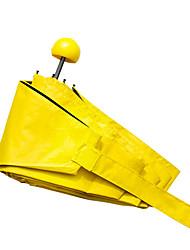 abordables -Yiwu pho_04r1 capsule manuelle parapluie 50% de rabais parapluie en plastique noir ultra léger mini écran solaire parapluie parapluie boîte cadeau jaune