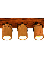 cheap -Vintage Wall Sconce Wall Light Fixtures Bamboo Shade Rustic / Lodge Flush Mount wall Lights / Swing Arm Lights Shops / Cafes / Bedroom Wood / Bamboo Wall Light