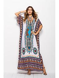 billige -Arabian Voksne Dame A-linje Seddel Abaya Muslimsk kjole Maxi kjoler Til Fest Bomuldsblanding Halloween Karneval Maskerade Kjole