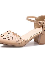 cheap -Women's Heels Chunky Heel PU(Polyurethane) Fall / Spring & Summer White / Yellow / Pink