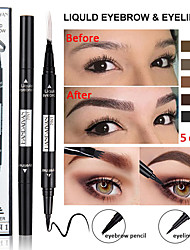 cheap -Double Eyebrow Pencil Eyeliner Waterproof Two-In-One Multi-Functional Long-Lasting Eye Makeup.