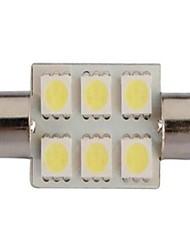 cheap -White 39mm 5050 6 SMD LED Festoon Dome C5W Light Bulb