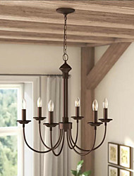 cheap -6-Light 60 cm Mini Style Chandelier Metal Mini Painted Finishes Traditional / Classic / Country 110-120V / 220-240V