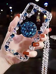 cheap -Case For Apple iPhone XS / iPhone XR / iPhone XS Max Rhinestone / with Stand Back Cover Transparent Soft TPU