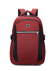 cheap -Large Capacity Oxford Zipper School Bag Solid Color Daily Black / Red / Gray / Fall & Winter