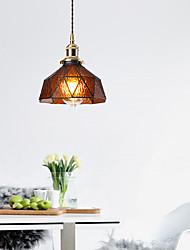 cheap -1-Light Nordic Brass Glass Aisle Lights Porch Bar Restaurant Balcony Bedside Ppendant Light