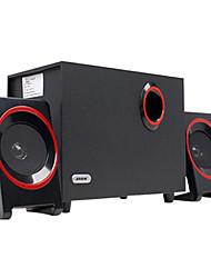 abordables -3 pièces en bois usb haut-parleurs surround bureau multimédia multi subwoofer stéréo basses lourdes pour ordinateur pc