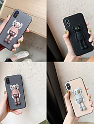 cheap -Case For Apple iPhone XS Max / iPhone 6 Pattern Back Cover Cartoon Soft Silica Gel