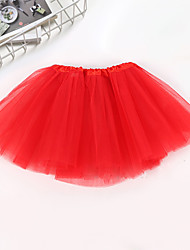 cheap -Children Kids Girl Three Layered Ballet Dance Tutu Skirt Classic Solid Color Mini Pleated Skirts