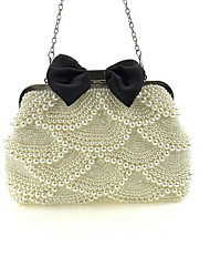 cheap -Women's Beading / Chain Polyester Evening Bag White