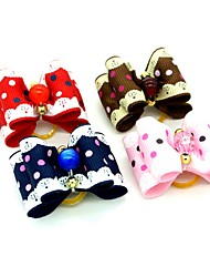 cheap -Dogs Ornaments Hair Accessories For Dog / Cat Bowknot Decoration Polka Dot Color Block Mosaic Metalic Polyester Rubber Rainbow