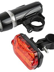 cheap -Bike Light Front Bike Light Rear Bike Tail Light Safety Light LED Mountain Bike MTB Bicycle Cycling Waterproof Portable Adjustable Warning AAA 50 lm AAA battery Warm White Cycling / Bike / IPX-4
