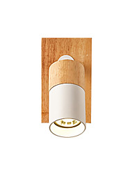 cheap -Led Wall Lamp Minimalist Wall Sconce Wooden Adjustable Reading Light Wall Mounted Rotatable Simple Wall Light Fixtures Mini Corridor Ceiling Lights