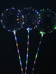 cheap -5pcs Reusable Luminous Led Balloon Round Bubble Decoration Wedding Infantiles Birthday Party Decor