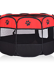 cheap -Dog Cages Bed Foldable Casual / Daily Solid Colored Footprint / Paw Fabric Yellow Red Fuchsia